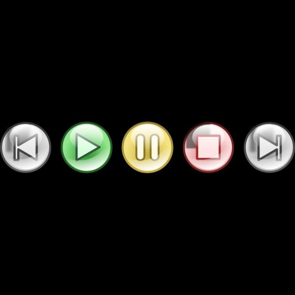 Mp3 Audio Player Button Set PNG Clip art