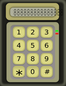 Simple Calculator Without Function Buttons PNG Clip art