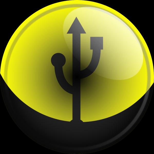 Glassy Usb Symbol PNG Clip art