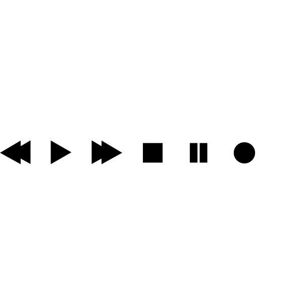 Vcr Dvd Player Buttons PNG Clip art