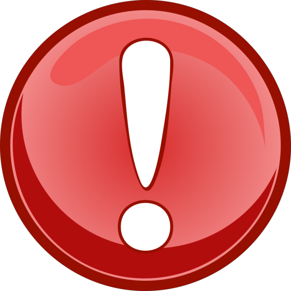 Exclamation Button PNG Clip art