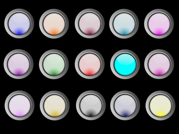Gloss Buttons PNG Clip art