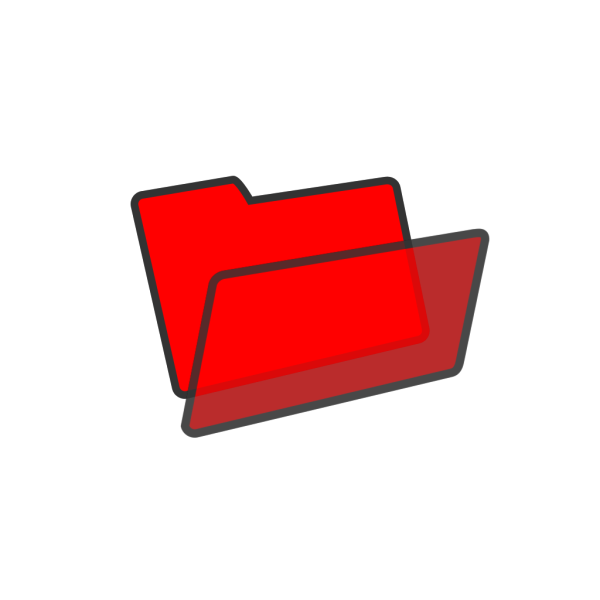 Red Folder Button PNG Clip art