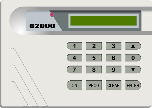 Security Alarm Keypad PNG Clip art