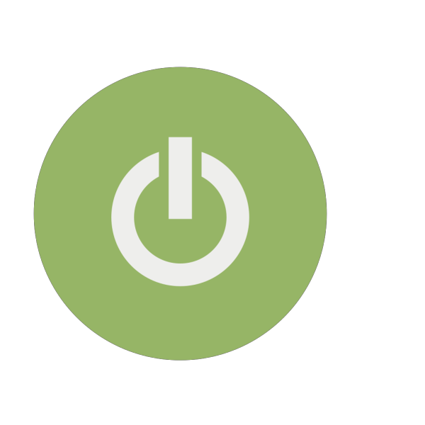 Green Power Button  PNG Clip art