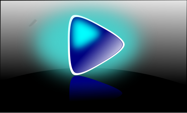 Blue Play Button PNG Clip art