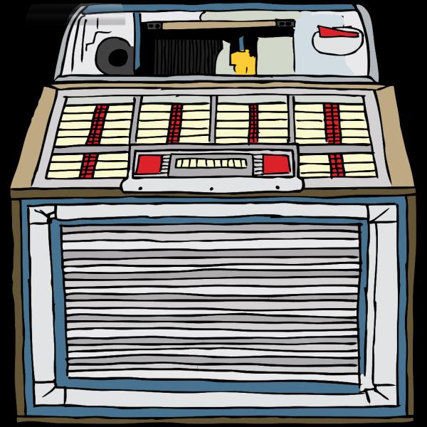 Fifties Jukebox 2 PNG Clip art