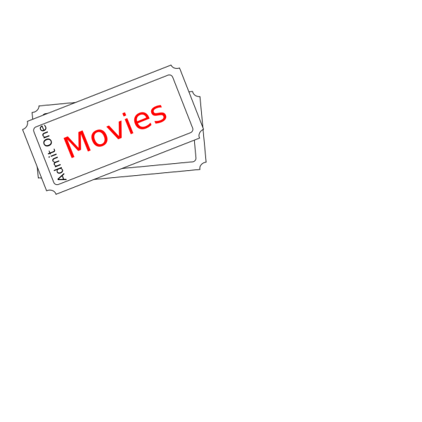 Movies Ticket Button PNG Clip art