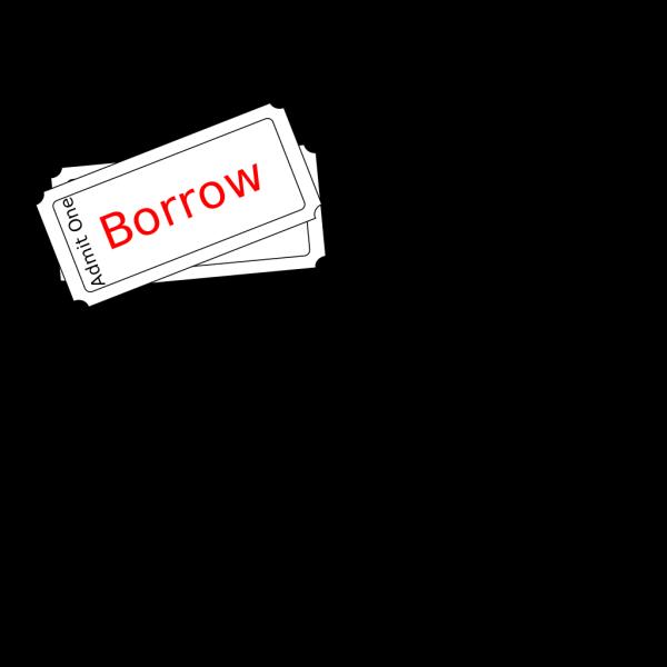 Borrow Ticket Button PNG Clip art