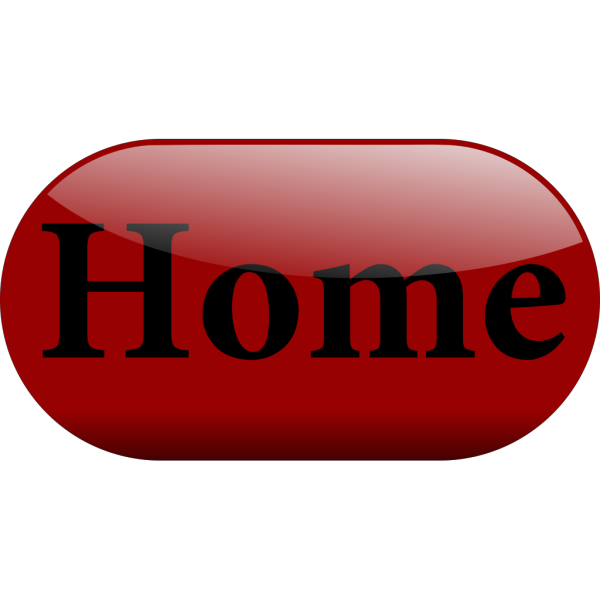 Shiny Red Home Button PNG Clip art