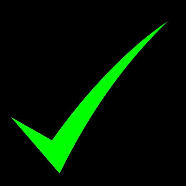 Small Green Check Mark PNG Clip art