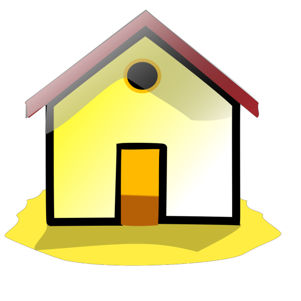 Yellow Home Button PNG Clip art