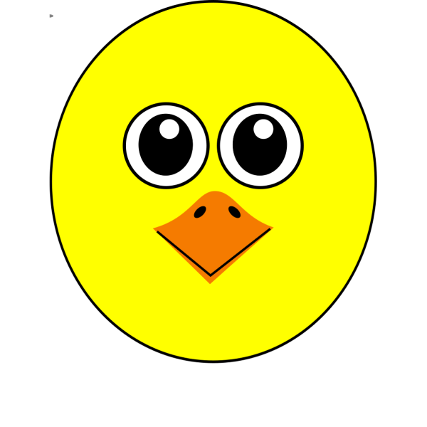 Funny Chick Face Cartoon PNG images