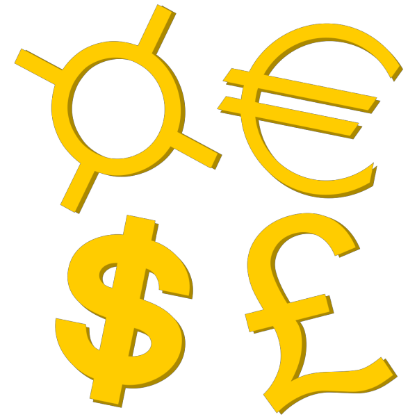 Currency Button PNG Clip art