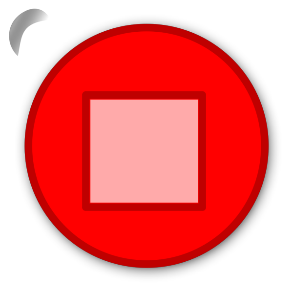 Stop Button Red PNG icon