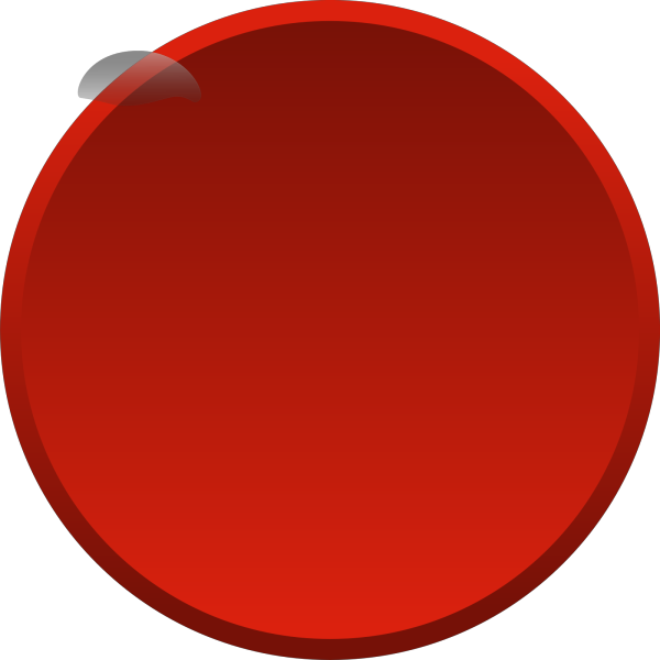 Blank Blood Red Button PNG Clip art