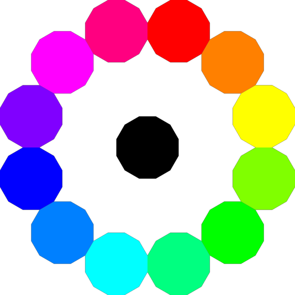 Rainbow Circle Button PNG Clip art