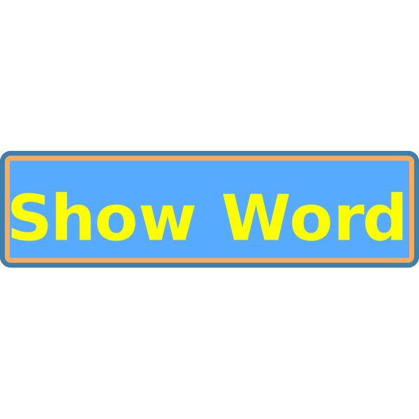 Show Word Button  PNG Clip art
