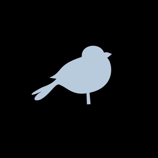 Blue Chubby Bird PNG Clip art