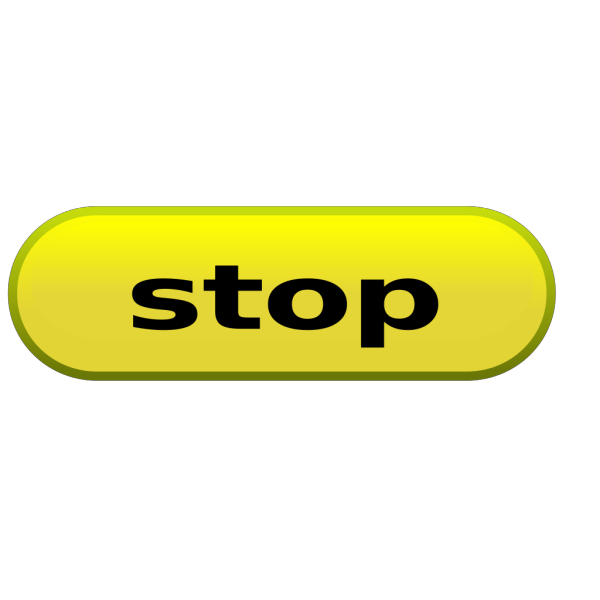 Yellow Stop Button PNG Clip art