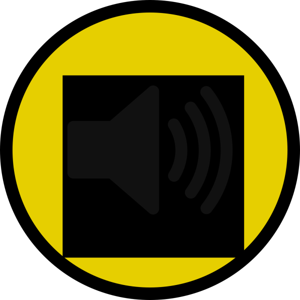 Yellow Pause Button PNG Clip art