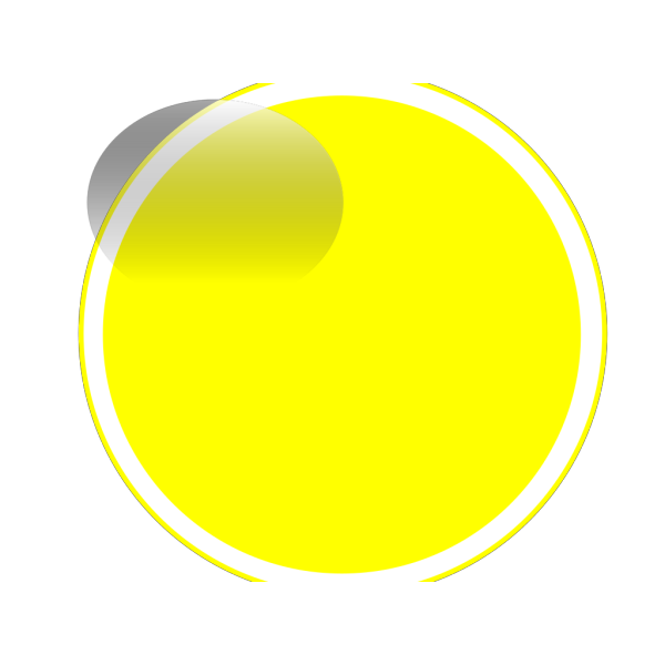 Glossy Yellow Circle Button PNG Clip art
