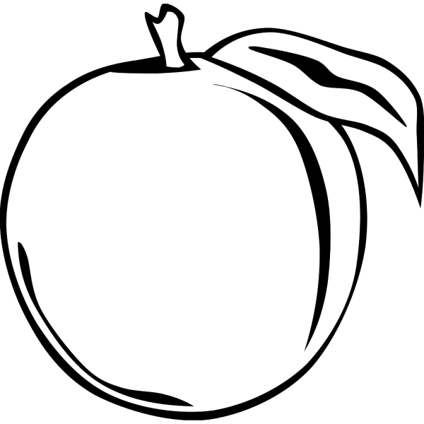 Glossy Peach Circle Button PNG Clip art