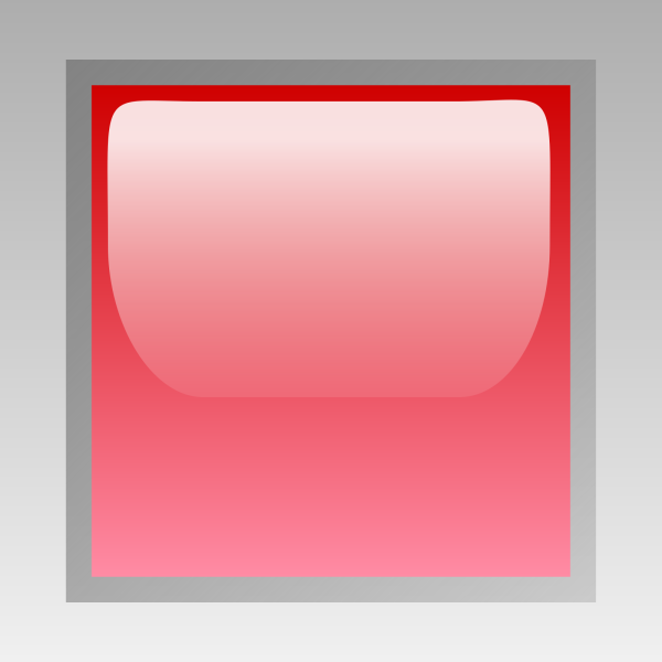 Red Rectangle Open Button PNG Clip art