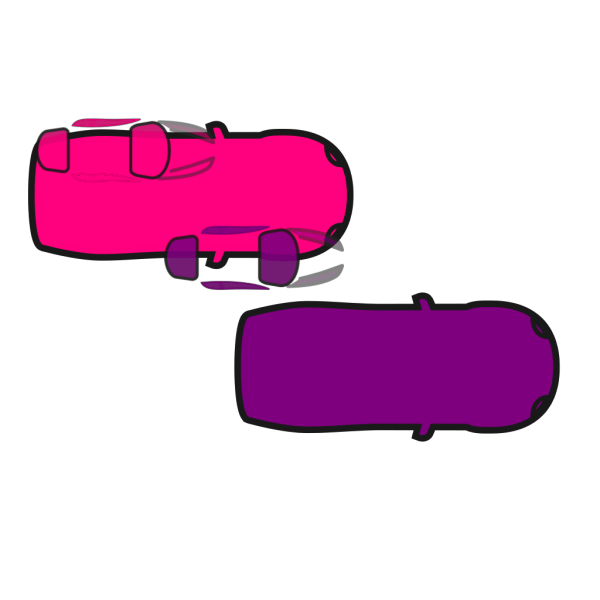 Red Car - Top View PNG Clip art