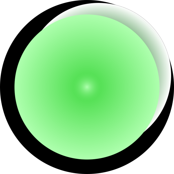Tiny Green Led Button PNG Clip art