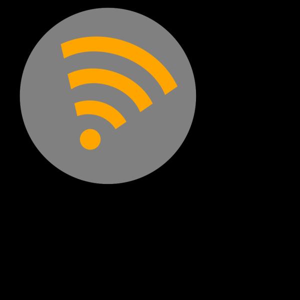 Wifi Orange Right PNG Clip art