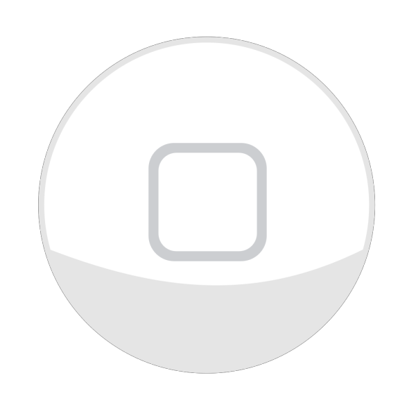 Iphone Home Button White PNG Clip art