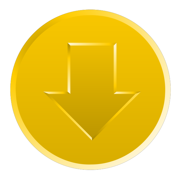 Yellow Trail Watch Button PNG Clip art