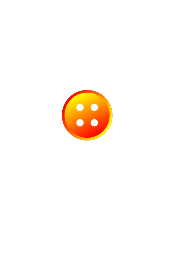 Small Orange Button PNG clipart