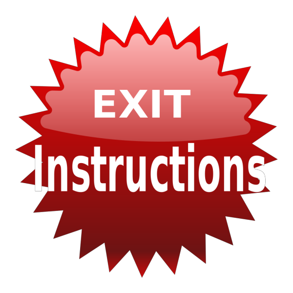 Red Exit Button PNG Clip art