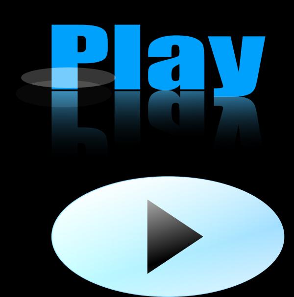 Medium Blue Glossy Rectangle Button PNG Clip art
