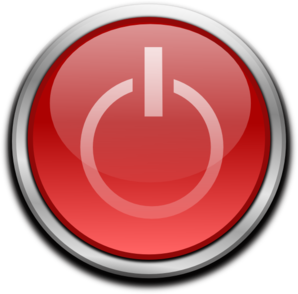 Red Power Button PNG Clip art