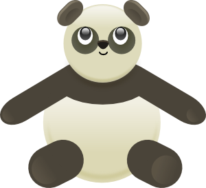 Panda Stuffed Bear PNG images