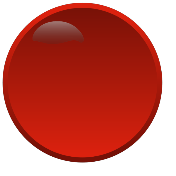Round Red Button PNG Clip art