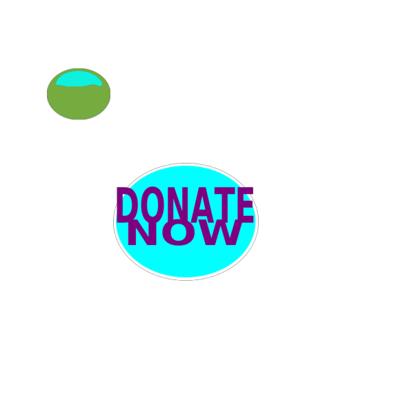 White Smaller Donate Round PNG Clip art