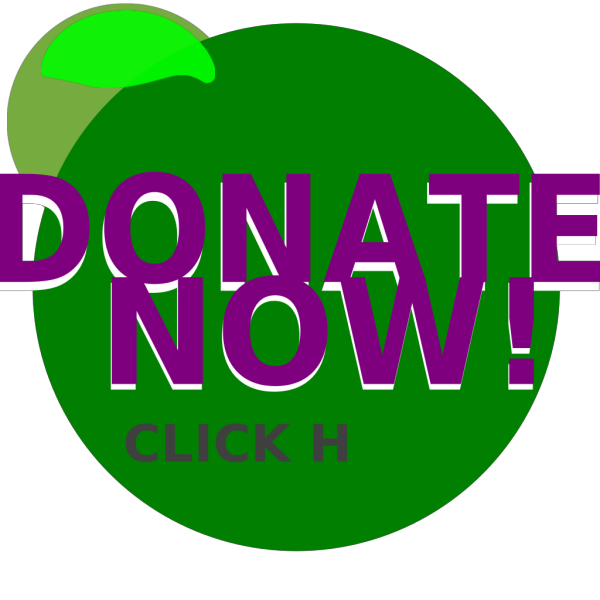 Donate Green Button PNG Clip art