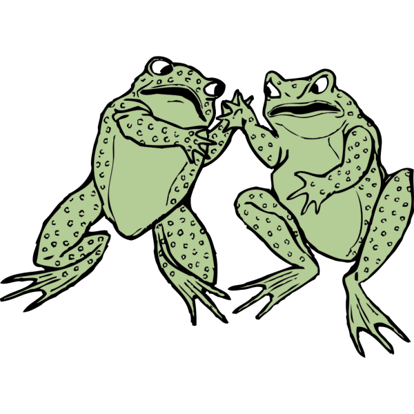 Two Frogs PNG images