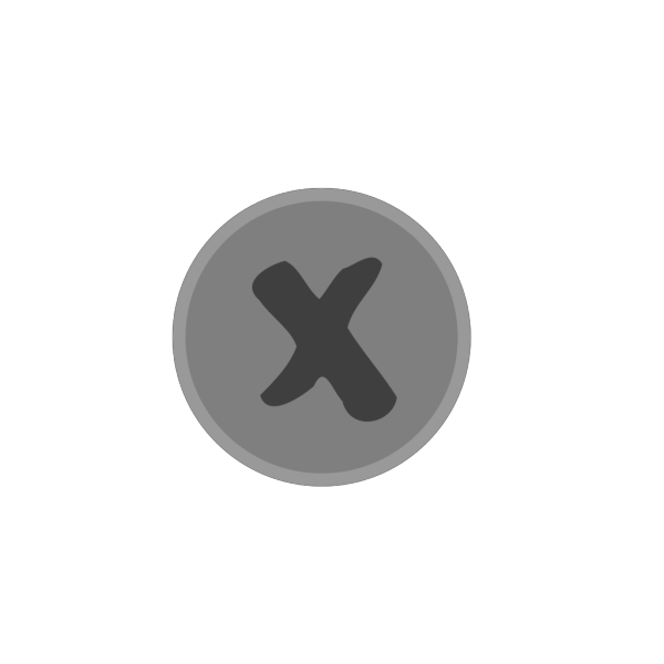 Small-grey-x-mark.png PNG clipart