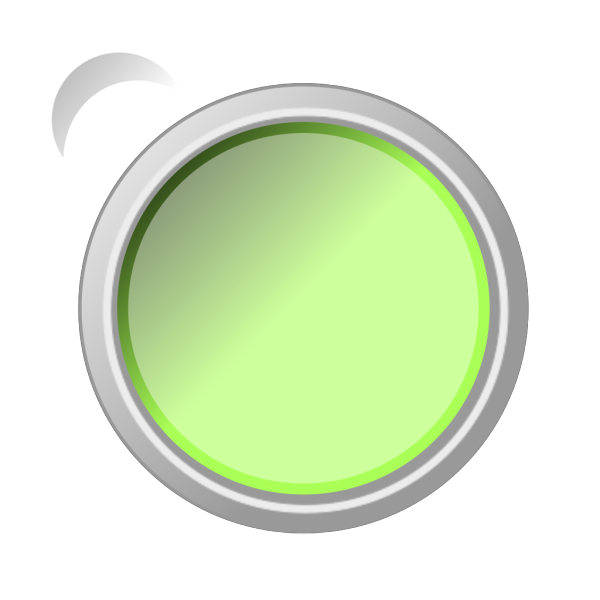 Glossy Green Push Button  PNG Clip art