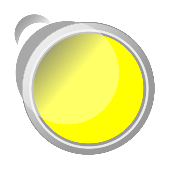 Push Button Yellow Glossy PNG Clip art