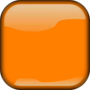 Orange  Locked Square Button PNG images