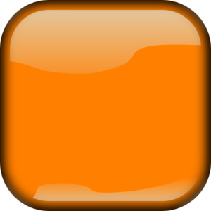 Dark Orange Locked Square Button PNG Clip art