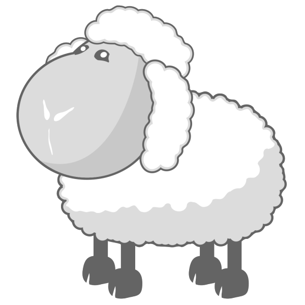 Sheep In Gray PNG images