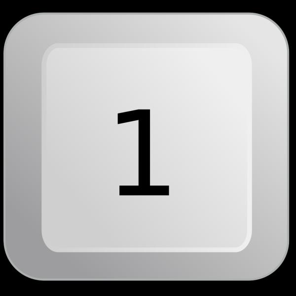 1 Keyboard Button PNG Clip art