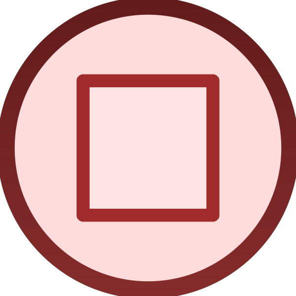 Red Stop Button Plain Icon PNG Clip art